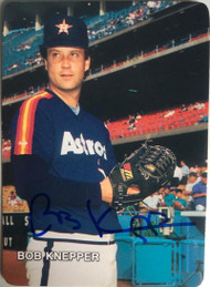 Bob Knepper Autographed 1987 Astros Mother's Cookies #5