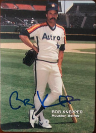 Bob Knepper Autographed 1988 Astros Mother's Cookies #5