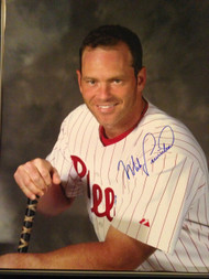 Mike Lieberthal Autographed Phillies 16 x 20  Photo 2