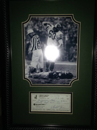Chuck Bednarik Autographed Framed Personal Check