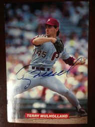 Terry Mulholland  Autographed Phillies Team Issued Postcard