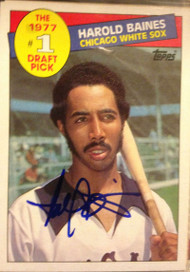Harold Baines Autographed 1985 Topps #275