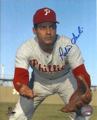 Ruben Amaro Sr. Autographed Phillies 8 x 10 Photo