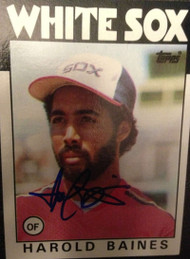 Harold Baines Autographed 1986 Topps #755