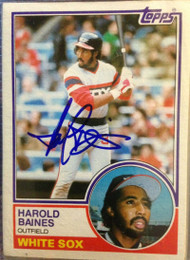 Harold Baines Autographed 1983 Topps #83