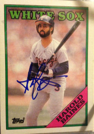 Harold Baines Autographed 1988 Topps #35