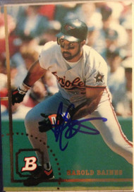 Harold Baines Autographed 1994 Bowman #19