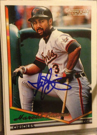 Harold Baines Autographed 1994 Topps Gold #420