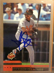 SOLD 1169 Harold Baines Autographed 2000 Topps #251