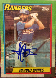 Harold Baines Autographed 1990 Topps #345