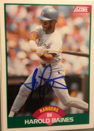 Harold Baines Autographed 1989 Score Rookie/Traded #62T