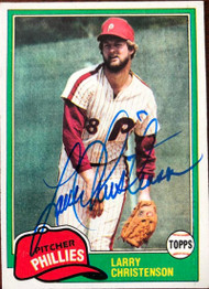Larry Christenson Autographed 1981 Topps #346