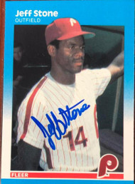 Jeff Stone Autographed 1987 Fleer Glossy #189