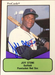 Jeff Stone Autographed 1990 Pro Cards AAA #447