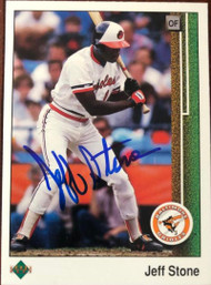 Jeff Stone Autographed 1989 Upper Deck #486