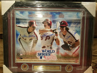 Steve Carlton, Mike Schmidt and Pete Rose Autographed Framed 16 x 20
