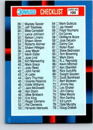 1988 Donruss #100a Checklist 28-137 NM-MT