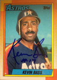 Kevin Bass Autographed 1990 Topps #281