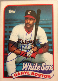 Daryl Boston Autographed 1989 Topps #633