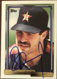 Pete Incaviglia Autographed 1992 Topps Traded Gold #54T