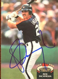 Pete Incaviglia Autographed 1992 Stadium Club #874
