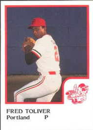1986 Pro Set #23 Fred Toliver NM-MT Portland Beavers