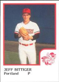 1986 Pro Set #1 Jeff Bittiger NM-MT Portland Beavers