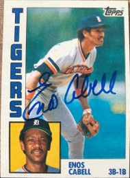 SOLD 1285 Enos Cabell Autographed 1984 Topps #482