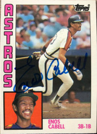 Enos Cabell Autographed 1984 Topps Traded #21T