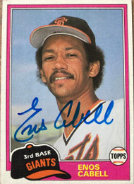 Enos Cabell Autographed 1981 Topps Traded #746