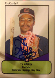 Ty Gainey Autographed 1991 Pro Cards #231