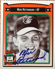 Merv Rettenmund Autographed 1991 Orioles Crown #377