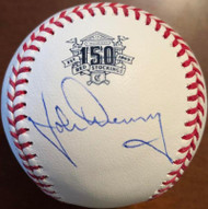 John Denny Autographed Cincinnati Reds 150th Anniversary ROMLB Baseball RARE