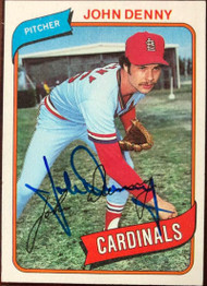 John Denny Autographed 1980 Topps #464