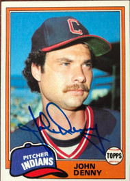 John Denny Autographed 1981 Topps #122