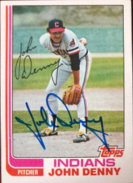 John Denny Autographed 1982 Topps #773