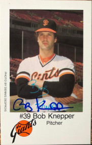 Bob Knepper Autographed 1980 San Francisco Giants Police #39