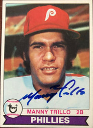 Manny Trillo Autographed 1979 Topps Burger King #14