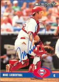Mike Lieberthal Autographed 2003 Donruss #349