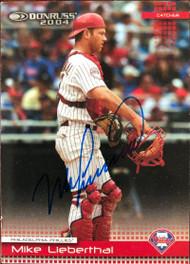 Mike Lieberthal Autographed 2004 Donruss #328
