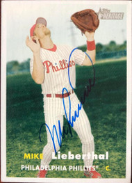 Mike Lieberthal Autographed 2006 Topps Heritage #93