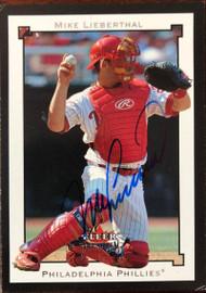 Mike Lieberthal Autographed 2002 Fleer Premium #142