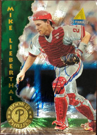 Mike Lieberthal Autographed 1995 Pinnacle #156