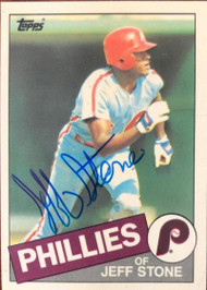 Jeff Stone Autographed 1985 Topps Tiffany #476