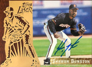 Shawon Dunston Autographed 1996 Topps Laser #22