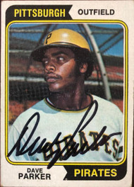 Dave Parker Autographed 1974 Topps #252 Rookie Card