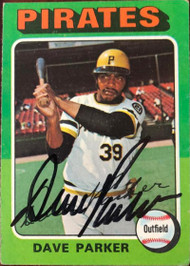 Dave Parker Autographed 1975 Topps #29