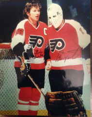 Bob Clarke and Bernie Parent Dual Signed 11 x 14 Photo