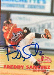 Freddy Sanchez Autographed 2000 Multi-Ad Sports Lowell Spinners #12