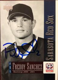 Freddy Sanchez Autographed 2001 Upper Deck Minors Centennial #33